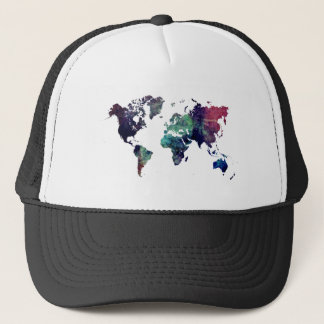 world map 6 trucker hat