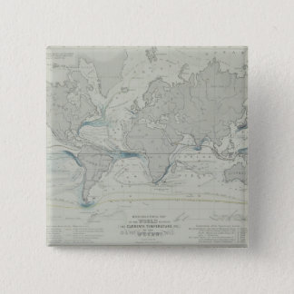 World Map 7 15 Cm Square Badge