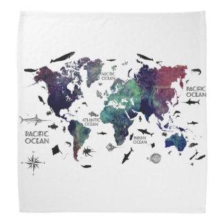 world map 7 bandana