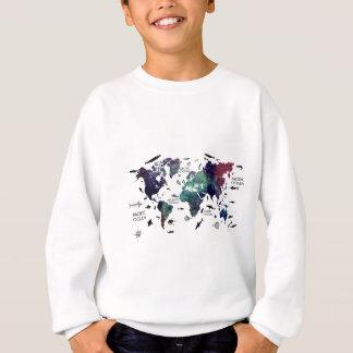 world map 7 sweatshirt
