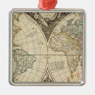 World Map 8 Christmas Ornament