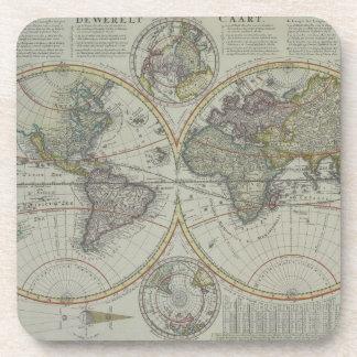 World Map 8 Coaster