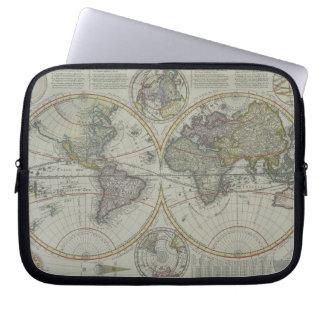 World Map 8 Computer Sleeve
