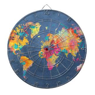 world map 8 dartboard
