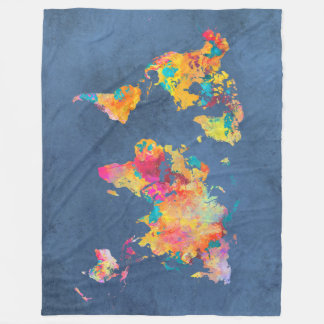 world map 8 fleece blanket