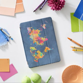 world map 8 iPad air cover