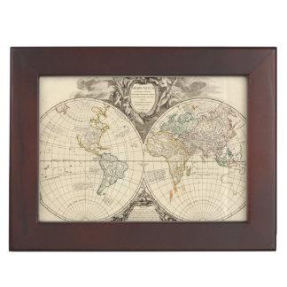 World Map 8 Keepsake Box