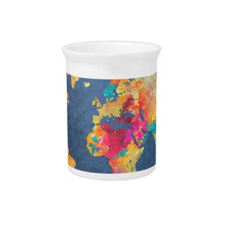 world map 8 pitcher