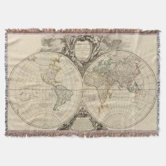 World Map 8 Throw Blanket