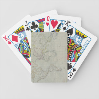 World Map 9 Bicycle Playing Cards