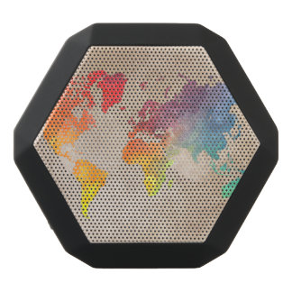 world map 9 black bluetooth speaker