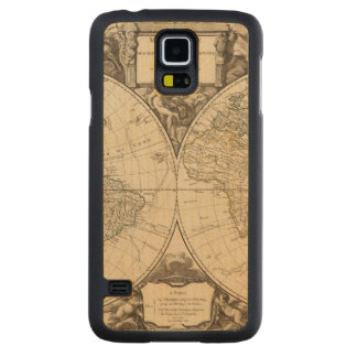 World Map 9 Carved Maple Galaxy S5 Case