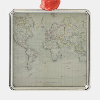 World Map 9 Christmas Ornament