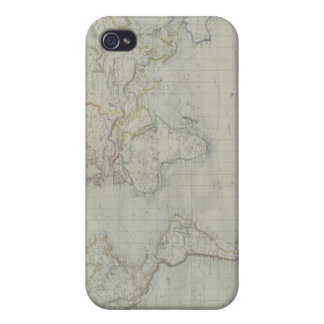 World Map 9 Cover For iPhone 4
