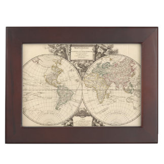 World Map 9 Keepsake Box