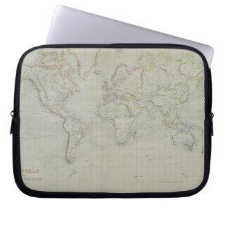 World Map 9 Laptop Sleeves