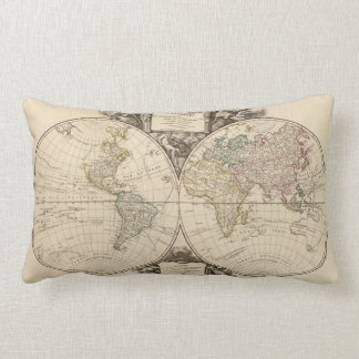 World Map 9 Lumbar Cushion