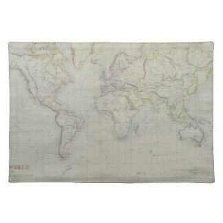 World Map 9 Placemat