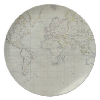 World Map 9 Plate