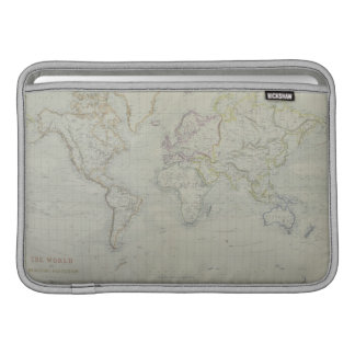 World Map 9 Sleeve For MacBook Air