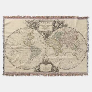World Map 9 Throw Blanket
