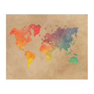 world map 9 wood wall decor