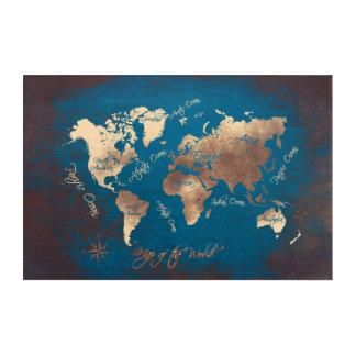 world map acrylic acrylic print