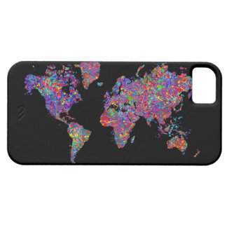 World Map, Action Painting Case For The iPhone 5