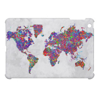 World Map, Action Painting iPad Mini Case