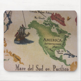 World Map - America Mouse Pad