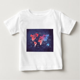 World map baby t shirts world map baby shirts zazzle world map art baby t shirt gumiabroncs Choice Image