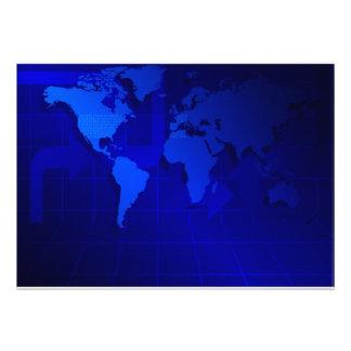 World Map Background Custom Announcement