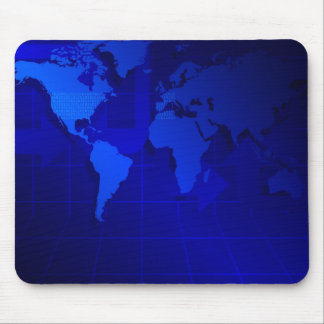 World Map Background Mouse Mat