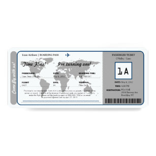 Birthday Boarding Pass Gifts Gift Ideas Zazzle Uk
