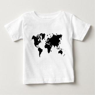 World Map - Black Baby T-Shirt