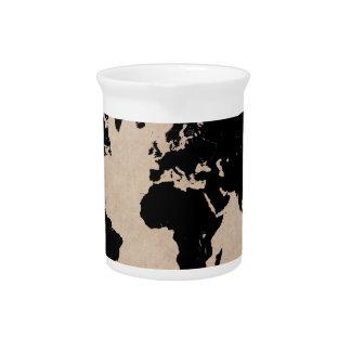 world map black pitcher