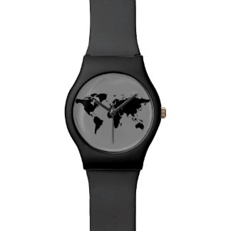world map black watch