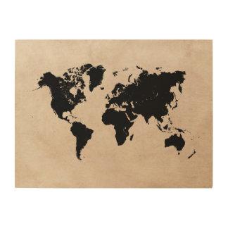 world map black wood wood wall decor