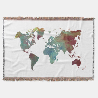 world map blanket