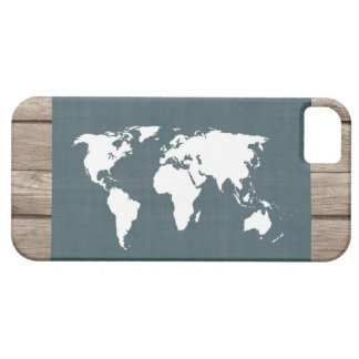World Map . blue and white Barely There iPhone 5 Case