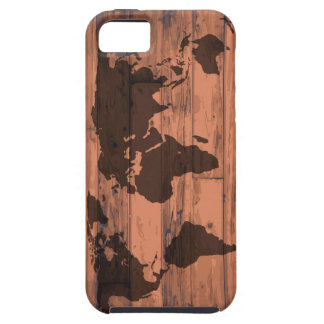 World Map Brand Tough iPhone 5 Case