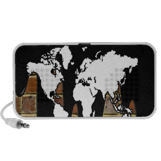 WORLD MAP BRICK BACKGROUND PRODUCTS SPEAKER SYSTEM