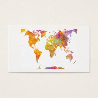 world map business card