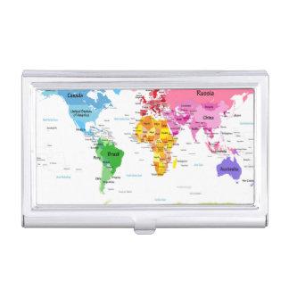 World Map Business Card Holder