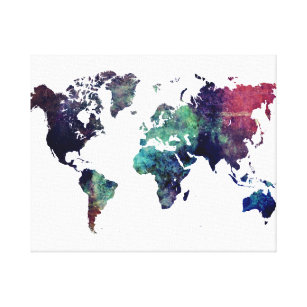 World map wrapped canvas prints zazzle world map canvas print gumiabroncs Image collections