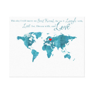 Wedding guestbook wrapped canvas prints zazzle world map canvas wedding guestbook guest choose gumiabroncs Images