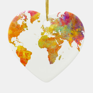 world map christmas ornament