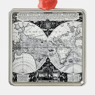 World map christmas ornament