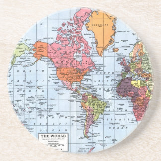 World Map coasters