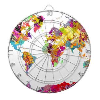 world map colors dartboard